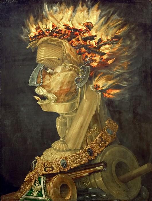 Giuseppe Arcimboldi (c.1527-1593) -- Fire (Allegory of Fire). Kunsthistorisches Museum