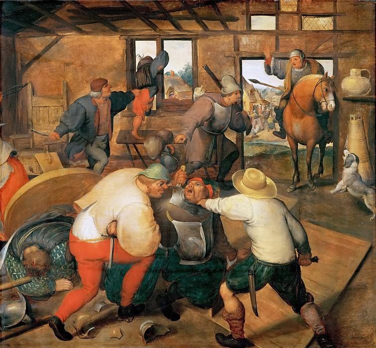Marten van Cleve I -- Brawl in a Pub. Kunsthistorisches Museum