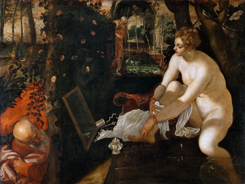 Jacopo Tintoretto -- Susanna and the Elders. Kunsthistorisches Museum