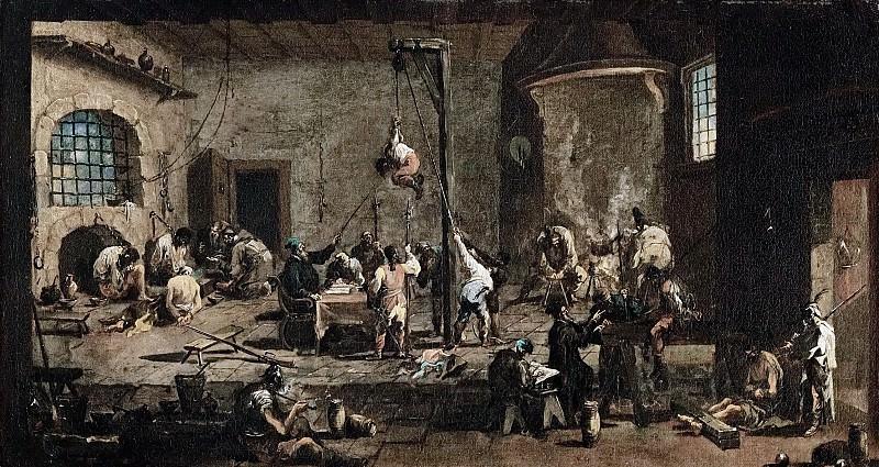 Алессандро Маньяско - Допрос с пытками в тюрьме инквизиции. Музей истории искусств
