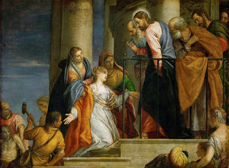 Paolo Veronese -- Raising of the Youth of Nain. Kunsthistorisches Museum
