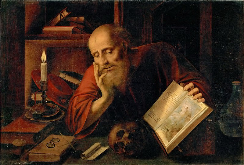 Jan Massys -- Saint Jerome. Kunsthistorisches Museum