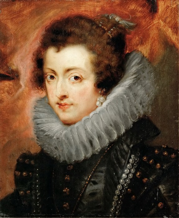 Peter Paul Rubens -- Elizabeth, of France, Queen, consort of Philip IV, King of Spain. Kunsthistorisches Museum