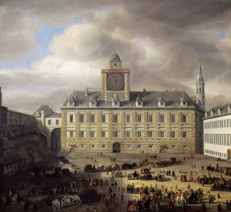 Samuel van Hoogstraten (1627-1678) -- Main Square Within the Imperial Castle in Vienna. Kunsthistorisches Museum