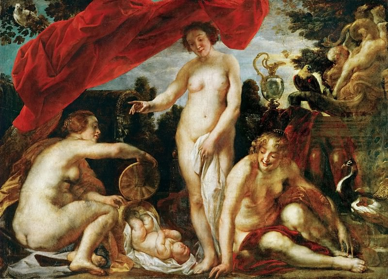 Jacob Jordaens the Elder (1593-1678) -- The Daughters of Kekrops Finding the Baby Erichthonius. Kunsthistorisches Museum