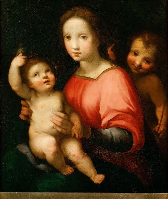 Francesco Vanni -- Saint Mary with Child and young John the Baptist. Kunsthistorisches Museum