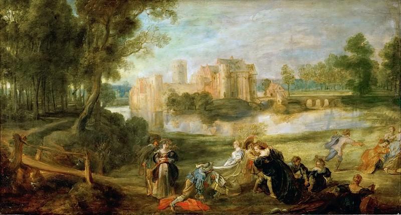 Peter Paul Rubens -- Palace Garden. Kunsthistorisches Museum