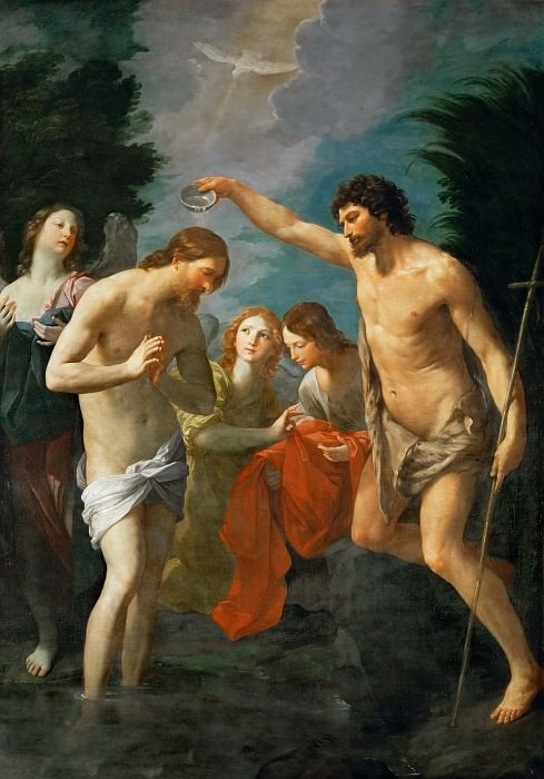 Guido Reni (1575-1642) -- Baptism of Christ. Kunsthistorisches Museum