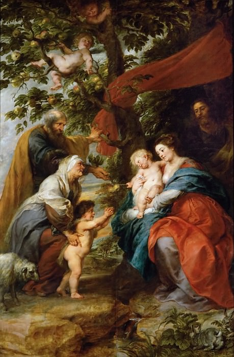 Holy Family Resting Under an Apple Tree. Peter Paul Rubens