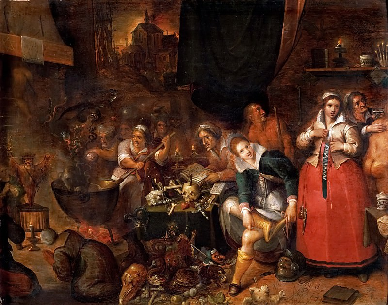 Frans Francken II -- Witches' Kitchen. Kunsthistorisches Museum