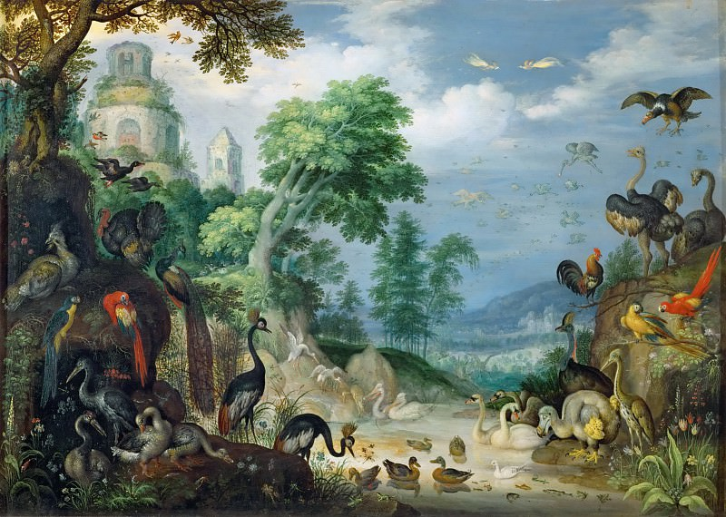Roelandt Savery (1576-1639) -- Landscape with Birds. Kunsthistorisches Museum