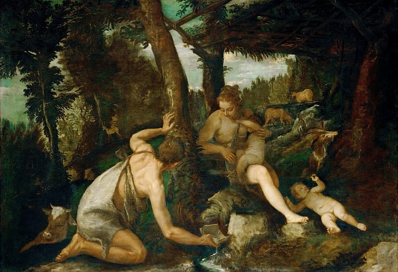 Paolo Veronese -- Adam and Eve after the Expulsion from Paradise. Kunsthistorisches Museum