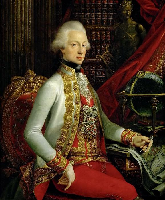 Joseph Dorffmeister -- Ferdinando III, Grand-Duke of Tuscany, Sitting in his Library (Ferdinand III). Kunsthistorisches Museum