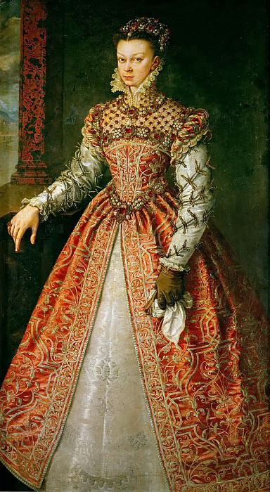 Alonso Sánchez Coello (c. 1531-1588) -- Isabella of Valois (1546-1568). Kunsthistorisches Museum