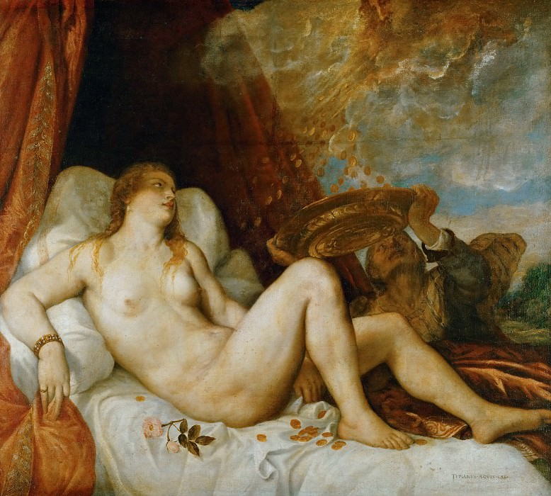 Titian -- Danaë, mother of Perseus. Kunsthistorisches Museum