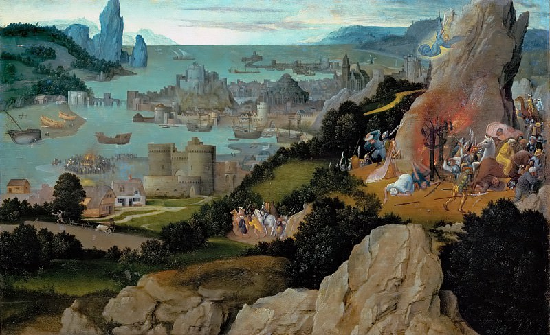 Joachim Patinir (c. 1480-before 1524) -- Martyrdom of Saint Catherine. Kunsthistorisches Museum
