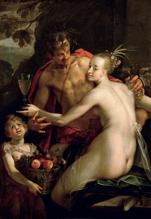 Hans von Aachen (1552-1615) - Bachus, Ceres and Cupid. Kunsthistorisches Museum