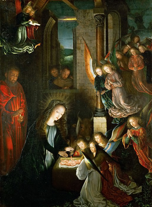 Gerard David -- Holy Night. Kunsthistorisches Museum
