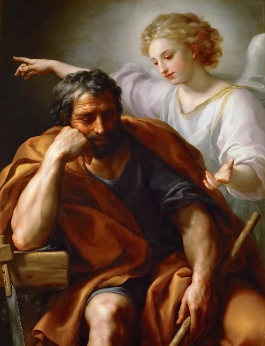 Anton Raphael Mengs -- Dream of Saint Joseph. Kunsthistorisches Museum