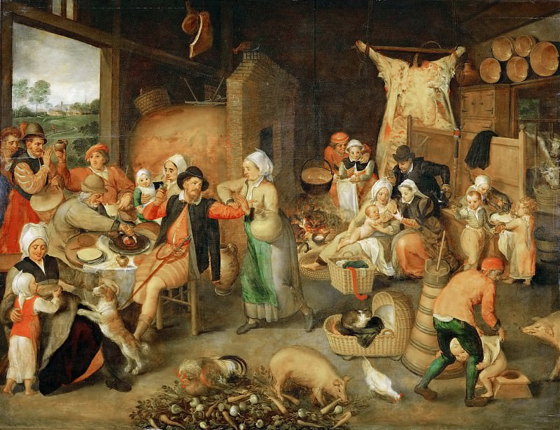 Marten van Cleve I -- Flemish Interior. Kunsthistorisches Museum