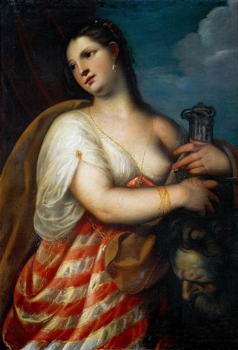 Padovanino (Italian painter, 1588-1649) -- Judith with the head of Holofernes. Kunsthistorisches Museum