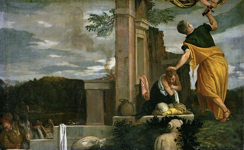 Paolo Veronese -- Sacrifice of Isaac. Kunsthistorisches Museum