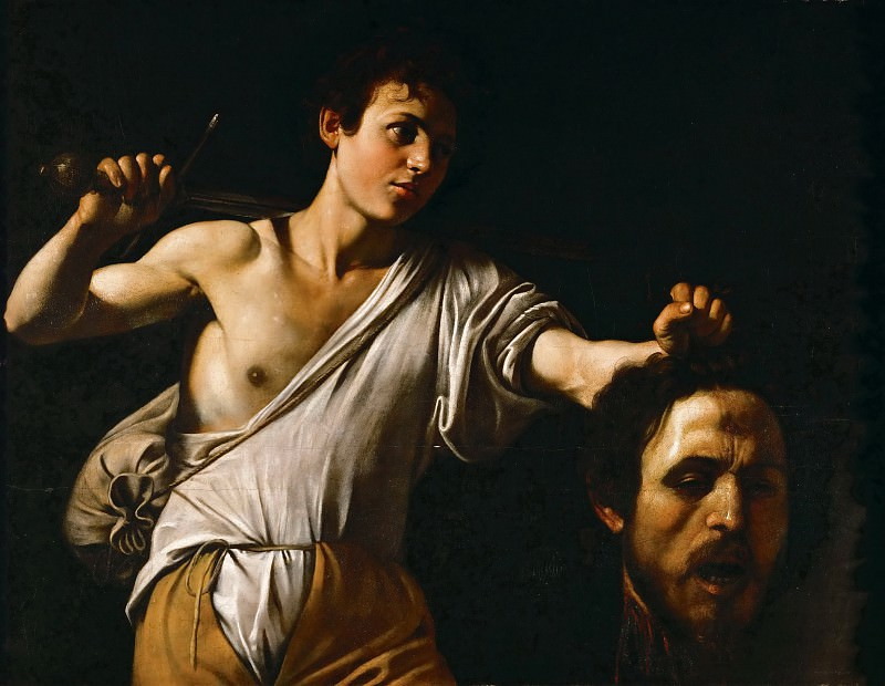 Michelangelo Merisi da Caravaggio (1571-1610) -- David with the Head of Goliath. Kunsthistorisches Museum