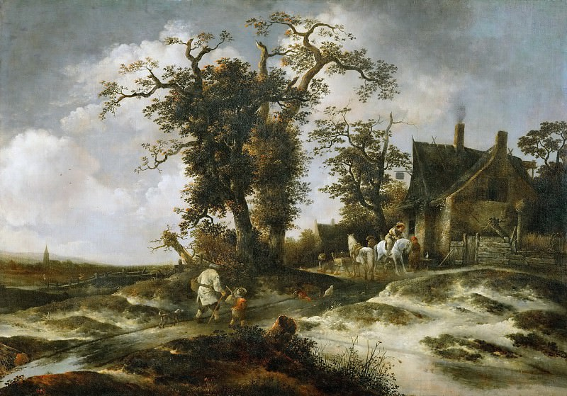 Isack van Ostade -- The Inn in the Dunes. Kunsthistorisches Museum