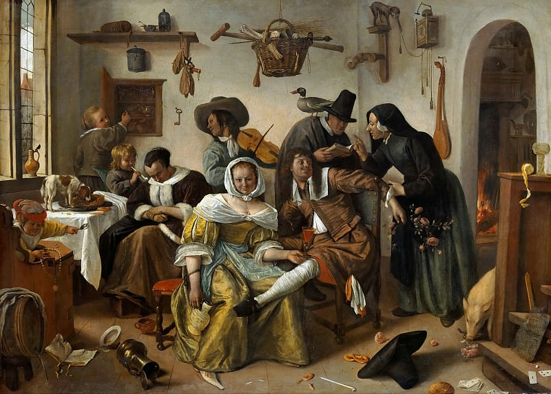Jan Steen -- The Topsy-Turvy World. Kunsthistorisches Museum