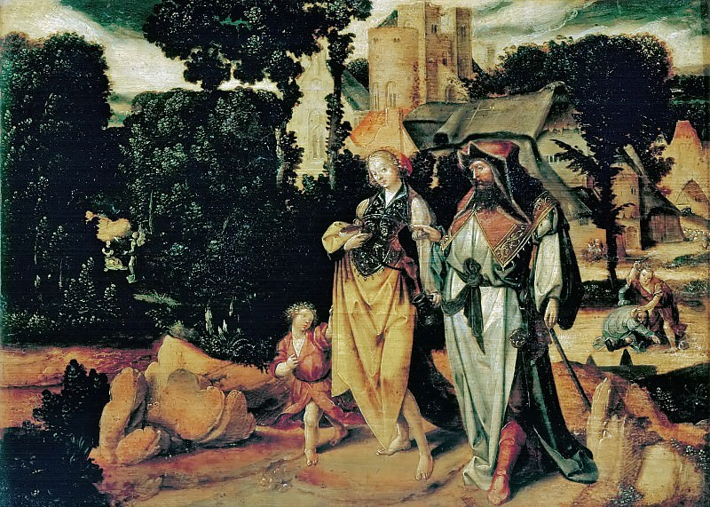 Master of the Expulsion of Hagar -- Expulsion of Hagar. Kunsthistorisches Museum
