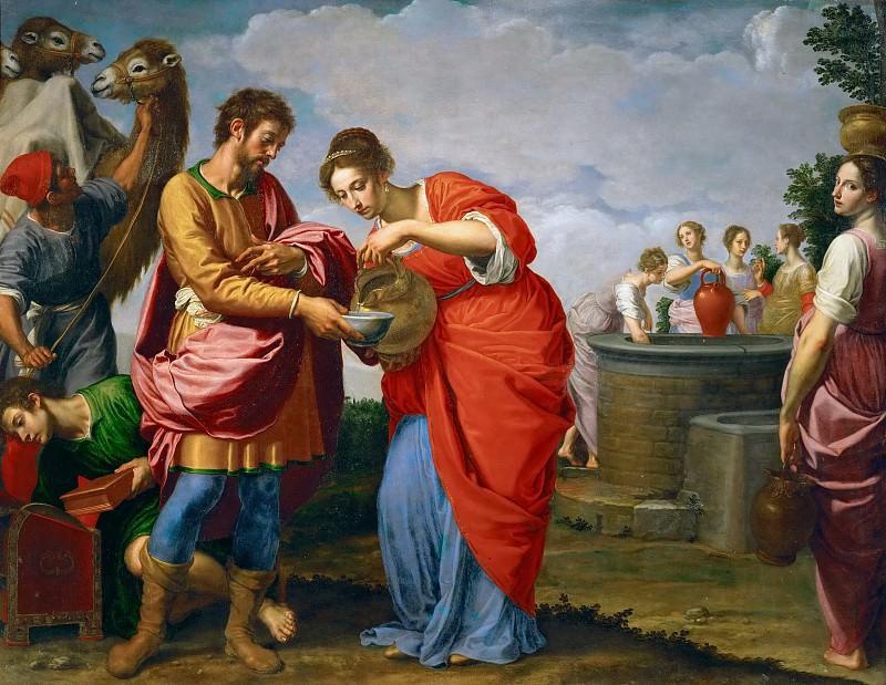 Ottavio Vannini -- Rebecca and Eleazer at the Well. Kunsthistorisches Museum