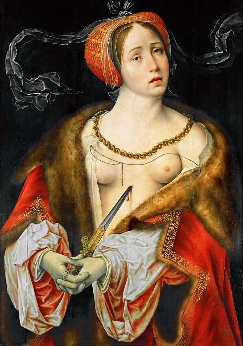 Joos van Cleve -- Lucretia. Kunsthistorisches Museum
