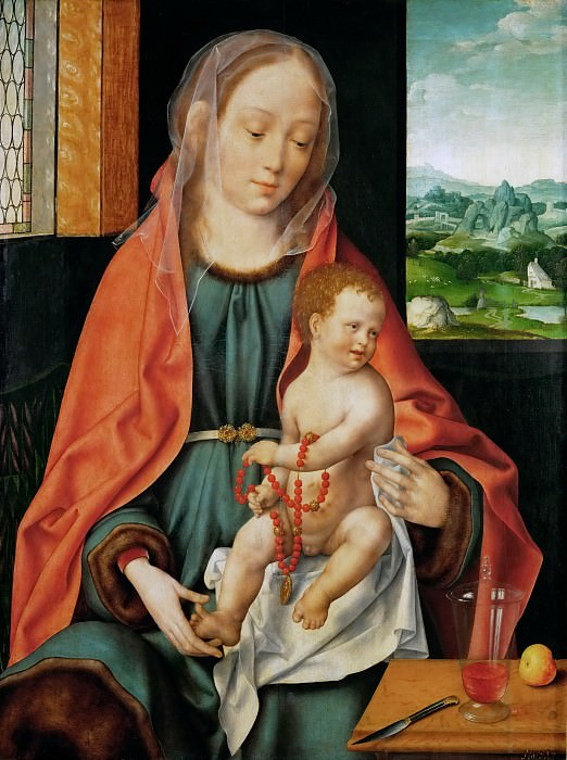 Joos van Cleve -- Saint Mary with the Christ Child. Kunsthistorisches Museum