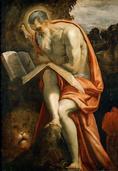 Jacopo Tintoretto -- Saint Jerome. Kunsthistorisches Museum