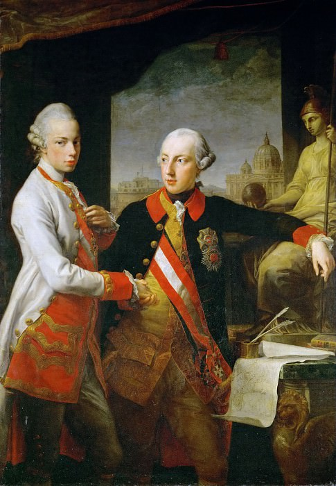 Pompeo Batoni (1708-1787) -- Emperor Joseph II and Emperor Leopold II. Kunsthistorisches Museum