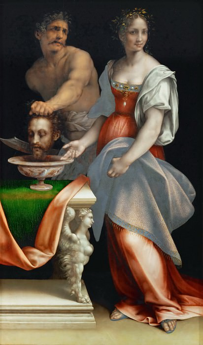 Cesare da Sesto (1477-1523) -- Salome with the Head of John the Baptist. Kunsthistorisches Museum