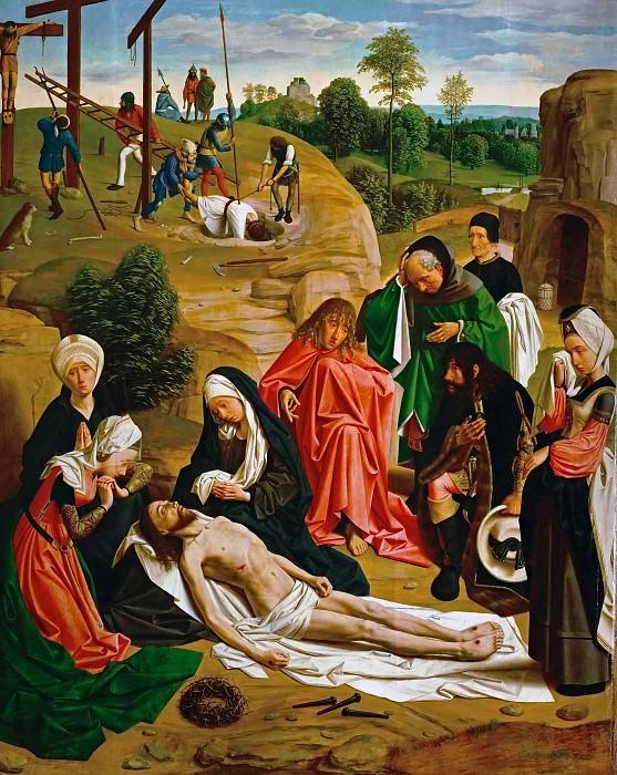 Geertgen tot Sint Jans -- Saint John's Altar, detail; right wing, inner side, Lamentation. Kunsthistorisches Museum