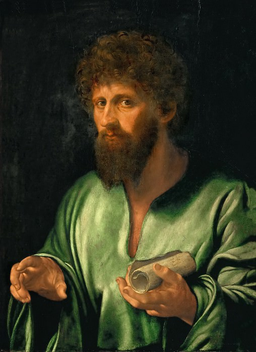 Giovanni Girolamo Savoldo (c. 1480-after 1548) -- Philosopher. Kunsthistorisches Museum