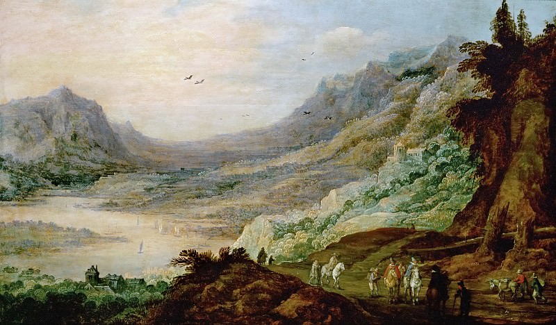 Joos de Momper the younger -- Landscape with River Valley. Kunsthistorisches Museum