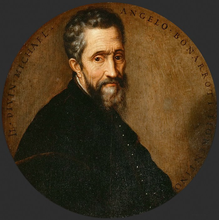 Frans Floris the elder -- Portrait of Michelangelo. Kunsthistorisches Museum