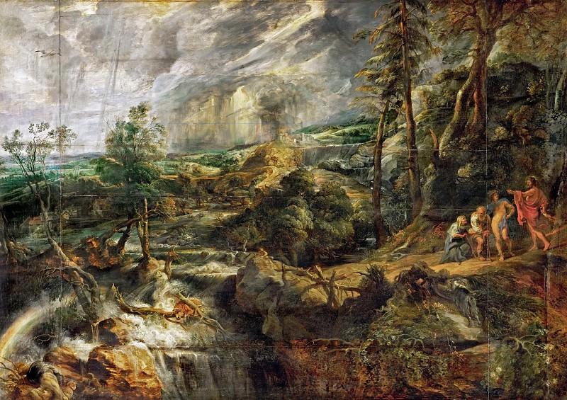 Пейзаж в штормовую погоду - ок 1625. Питер Пауль Рубенс