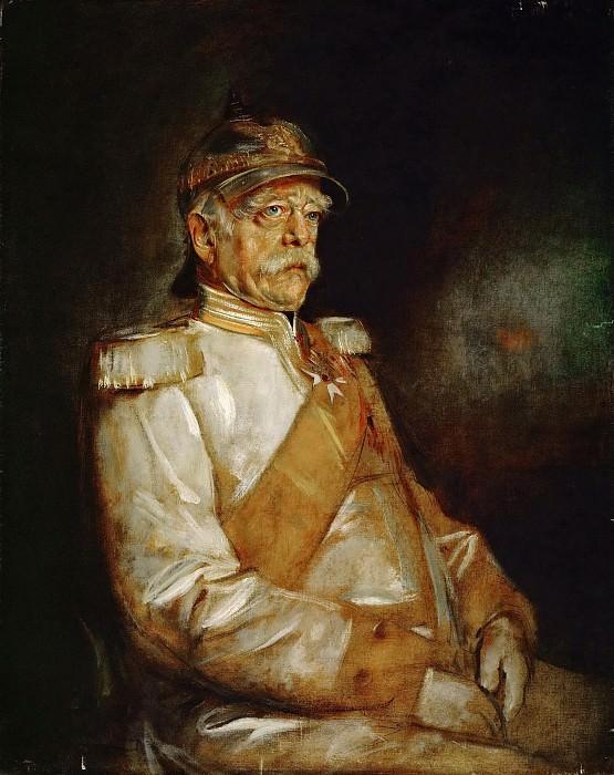 Franz Seraph von Lenbach (1836-1904) -- Prince Otto von Bismarck in Uniform with Prussian Helmet. Kunsthistorisches Museum