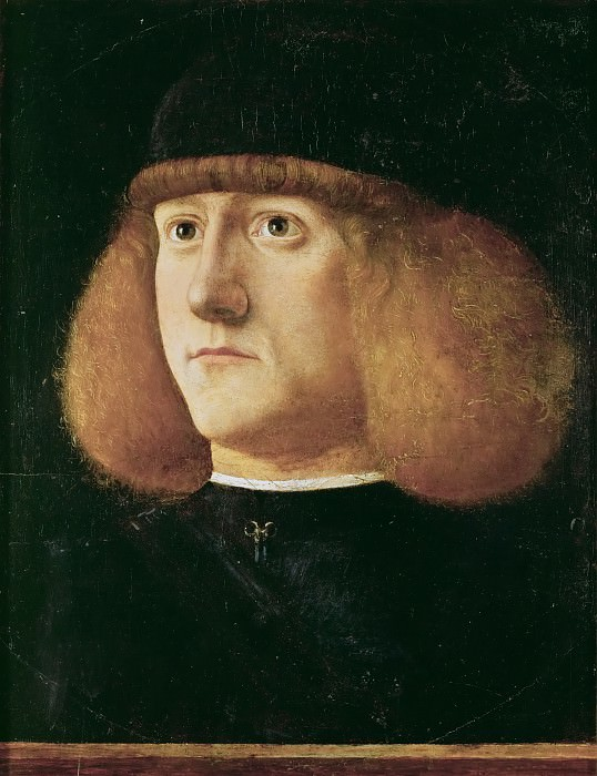Giovanni di Niccolò Mansueti -- Portrait of a young man. Kunsthistorisches Museum