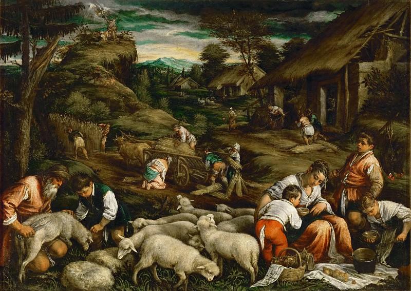 Франческо Бассано - Лето (жертвоприношение Исаака). Музей истории искусств