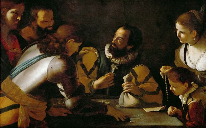 Mattia Preti (1613-1699) -- Calling of Matthew. Kunsthistorisches Museum