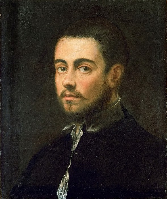 Jacopo Tintoretto -- Young Man with a Beard. Kunsthistorisches Museum