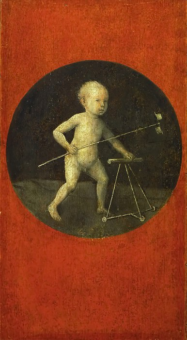 Christ Carrying the Cross (reverse side - Christ Child). Hieronymus Bosch