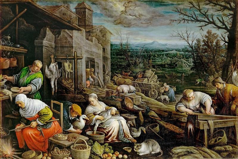 Leandro Bassano (1557-1622) -- November. Kunsthistorisches Museum