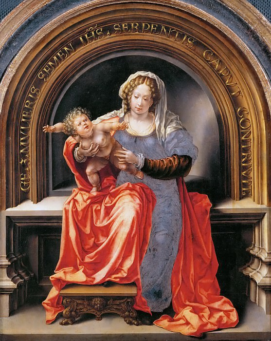 Jan Gossaert (c. 1478-1532) -- Madonna and Child. Kunsthistorisches Museum