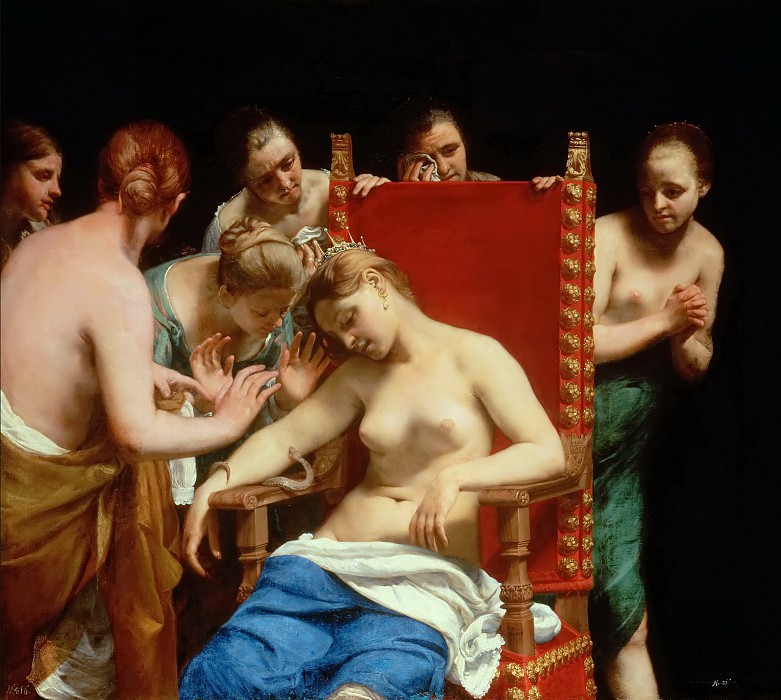 Guido CAGNACCI -- The Death of Cleopatra. Kunsthistorisches Museum